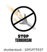 stop terrorism. terrorism on...   Shutterstock . vector #1091975537