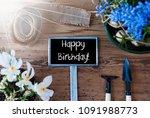 sunny spring flowers  sign ...   Shutterstock . vector #1091988773