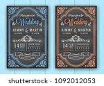 vintage chalkboard wedding...   Shutterstock .eps vector #1092012053