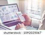 business analytics dashboard... | Shutterstock . vector #1092025067