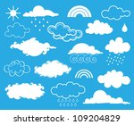 Elements of weather. Vector illustration set - stock vector
