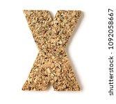 cork.alphabet.letter x  on... | Shutterstock . vector #1092058667