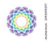 abstract dotted mandala flower... | Shutterstock .eps vector #1092059297