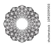 black and white gradient... | Shutterstock .eps vector #1092059303