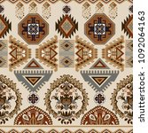 seamless ornamental pattern.... | Shutterstock . vector #1092064163