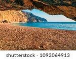 attractive spring view of porto ... | Shutterstock . vector #1092064913