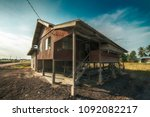 an abandoned malay traditional... | Shutterstock . vector #1092082217