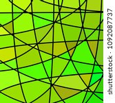 abstract vector stained glass... | Shutterstock .eps vector #1092087737