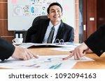 business  a man boss talking to ...   Shutterstock . vector #1092094163