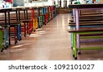 the tables and chairs in the...   Shutterstock . vector #1092101027