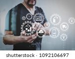 smart factory and industry 4.0... | Shutterstock . vector #1092106697