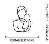 mother holding newborn baby... | Shutterstock .eps vector #1092137417