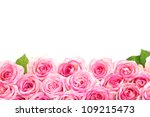 Stock photo beautiful bouquet of pink roses isolated on white 109215473
