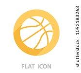 basketball icon. vector... | Shutterstock .eps vector #1092183263