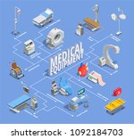 medical equipment isometric...   Shutterstock .eps vector #1092184703