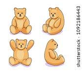 teddy bear. toy vector...   Shutterstock .eps vector #1092186443