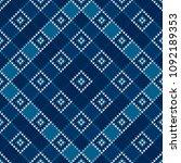 argyle knitting pattern.... | Shutterstock .eps vector #1092189353