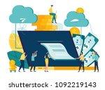 vector illustration ... | Shutterstock .eps vector #1092219143