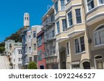 san francisco  typical colorful ... | Shutterstock . vector #1092246527