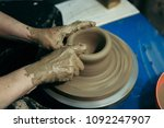 process of making the ceramic... | Shutterstock . vector #1092247907