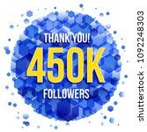 thank you design template for... | Shutterstock .eps vector #1092248303