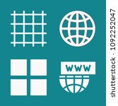 set of 4 grid filled icons such ... | Shutterstock .eps vector #1092252047