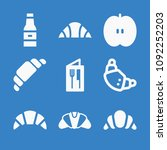 set of 9 food filled icons such ... | Shutterstock .eps vector #1092252203