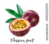passion fruit. vector... | Shutterstock .eps vector #1092255293