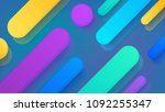 abstract flat rounded colorful... | Shutterstock .eps vector #1092255347