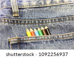 Denim Jeans With A Pocket Of...