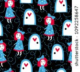 fairytale cute seamless pattern.... | Shutterstock .eps vector #1092258647