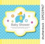 baby shower invitation | Shutterstock .eps vector #109225967