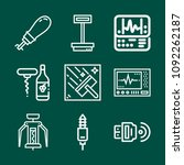 set of 9 tool outline icons... | Shutterstock .eps vector #1092262187
