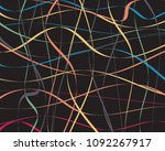 watercolor striped background.... | Shutterstock .eps vector #1092267917