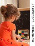 girl  learning at kindergarten... | Shutterstock . vector #1092268517