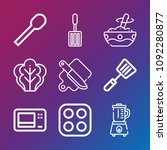 cooking icon set   outline... | Shutterstock .eps vector #1092280877
