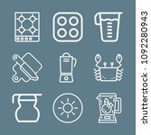 cooking icon set   outline... | Shutterstock .eps vector #1092280943