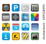 apps icons set three   Shutterstock .eps vector #109228493