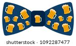 bowtie with beer icons | Shutterstock .eps vector #1092287477