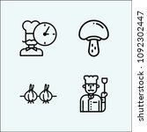 cooking related set of 4 icons... | Shutterstock .eps vector #1092302447