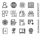 outline interface icon set such ... | Shutterstock .eps vector #1092304757