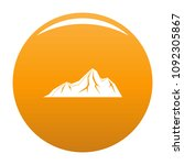 tall mountain icon. simple... | Shutterstock .eps vector #1092305867