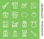 cooking icon set   outline... | Shutterstock .eps vector #1092306587