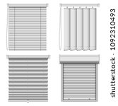 blind window curtains mockup... | Shutterstock .eps vector #1092310493
