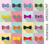 bowtie ribbon man tuxedo icons... | Shutterstock .eps vector #1092311747