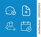 outline add icon set such as... | Shutterstock .eps vector #1092312413