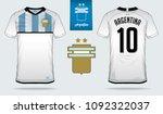 soccer jersey or football kit...   Shutterstock .eps vector #1092322037