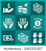 filled money icon set such as... | Shutterstock .eps vector #1092322307