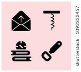 filled open icon set such as... | Shutterstock .eps vector #1092322457