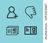outline social icon set such as ... | Shutterstock .eps vector #1092323687